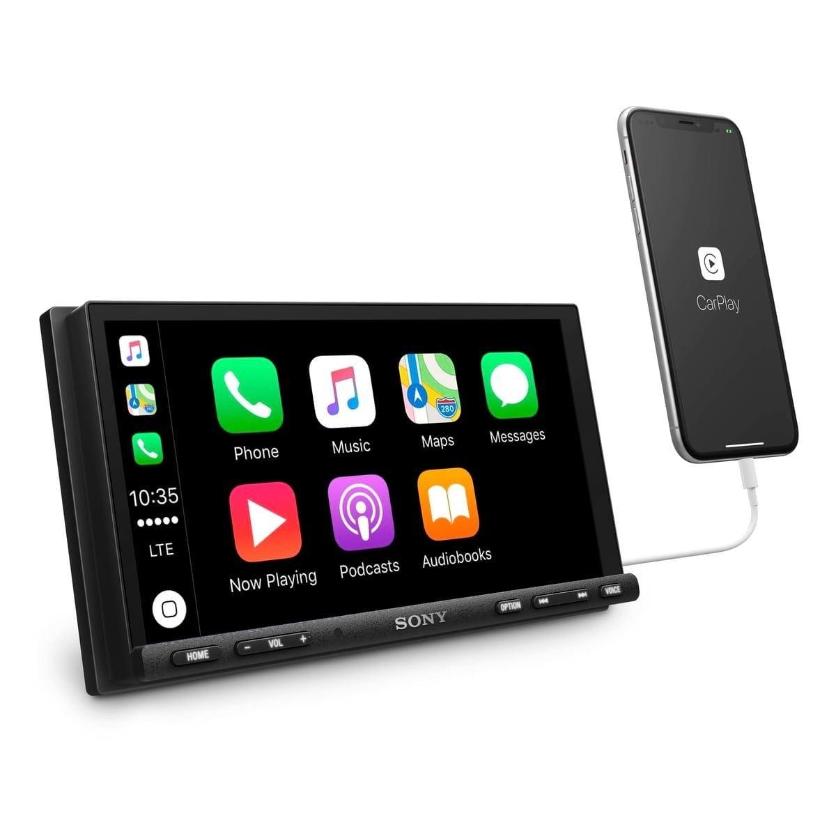 SONY XAV-AX7000 High Power Media Receiver プラグアンドプレイバンドル、METRA 95-HDIFインナーフェアリング付き 1999y~2013y対応